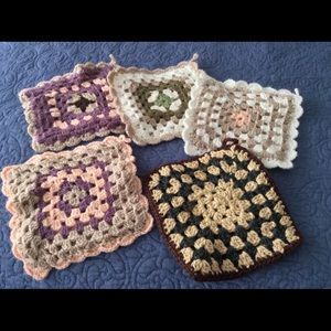 Crochet Pot Holders NWOT- 5 in a variety of colors